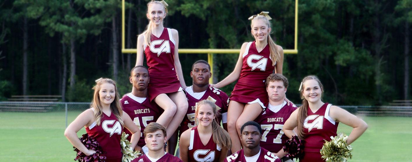 Senior Football Players and Cheerleaders